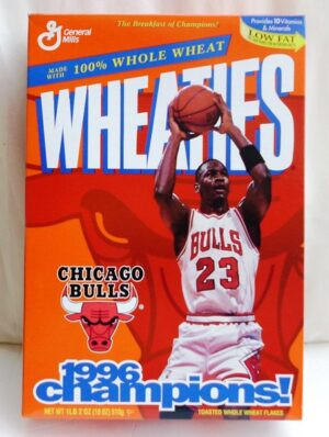 Michael Jordan Empty Box(Chicago Bulls 1996 Champions! Wheaties (0)