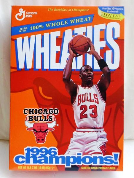 Michael Jordan Empty Box(Chicago Bulls 1996 Champions! Wheaties (0)
