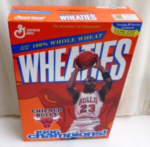 Michael Jordan Empty Box(Chicago Bulls 1996 Champions! Wheaties) (3)