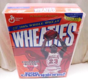 Michael Jordan Full Box(Chicago Bulls 1996 Champions! Wheaties) (2)