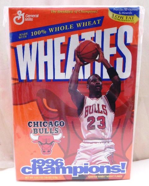 Michael Jordan Full Box(Chicago Bulls 1996 Champions! Wheaties) - Copy
