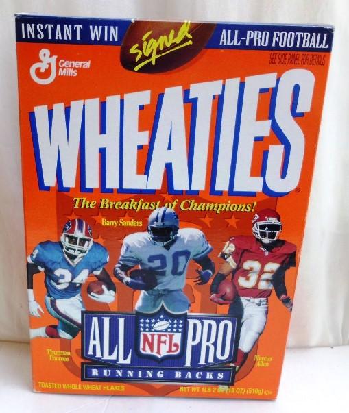 NFL All Pro Running Backs (Barry, Thurman & Marcus) Wheaties (0)