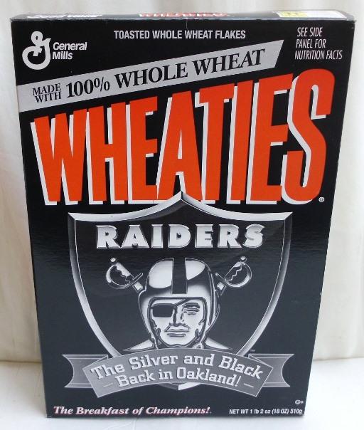Raiders Empty Box(Back In Oakland! Wheaties) (0)