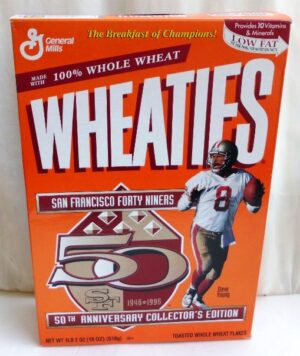 Steve Young #8 NFL (49ers 50th Anniversary Collectors Ed) Wheat (0)