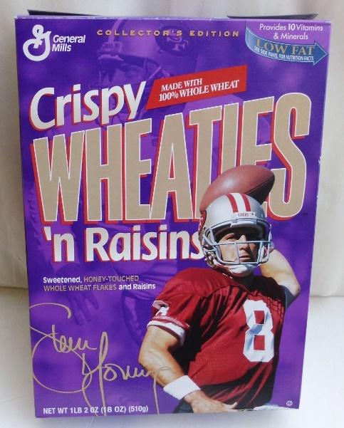 Steve Young #8 (NFL 49ers Crispy Wheaties n Raisins) Wheaties (0)