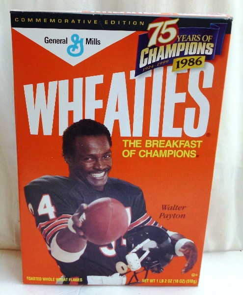 Walter Payton #34 NFL (75 Years Of Champions) Wheaties (0)