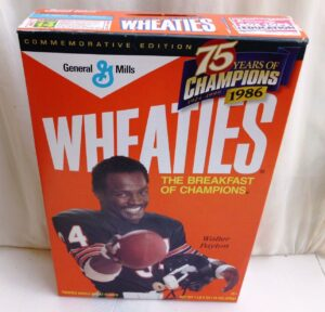 Walter Payton #34 NFL (75 Years Of Champions) Wheaties (2)