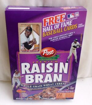 Willie McCovey Empty Box(H Of F Baseball Card! Post Raisin Bran (0)