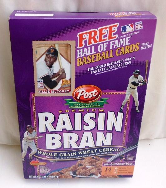Willie McCovey Empty Box(H Of F Baseball Card! Post Raisin Bran (0)