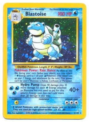 02-130 Blastoise (Unlimited Base 2 Halo-Foil) 2000