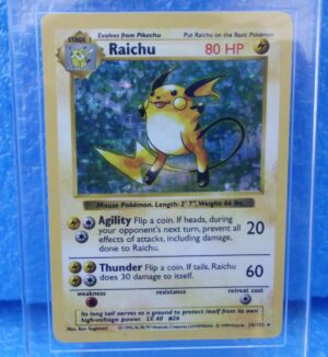 14-102 Raichu (Shadowless Holo Foil Unlimited Base Set Edition)1999 (2)