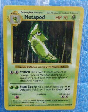 54-102 Metapod (Shadowless Unlimited Base Set Edition)1999 (1)
