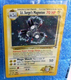 8-132 Lt Surges Magneton (Gym Heroes 1st Edition Holo Foil) Base Set (1999-2000) (2)