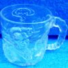 DC Comics (Two-Face Crystal Glass Mug) Batman Forever Movie Classic 1995 Collection (2)