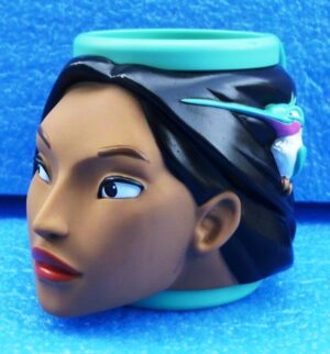 Walt Disney (Pocahontas) Plastic Figural Mug 1995-1996 Collection (4)