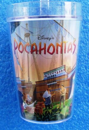 Walt Disney Store (Pocahontas Plastic Decor Glass) 1996 Collection (1)
