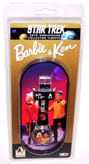 """Barbie & Ken Star Trek Watch (""""Vintage 30th Anniversary Limited Edition Collector Timepiece"""") Hope Inc. Collection Series """"Rare-Vintage"""" (1996)"""