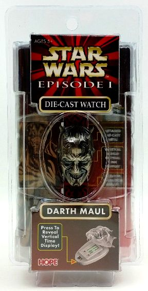 """Darth Maul Die-Cast Watch """"With Lightsaber Display Case ! (#46271 )"""" (""""Star Wars Episode-1 Hope Industries Inc. Vintage Collection Series"""") """"Rare-Vintage"""" (1999)"""
