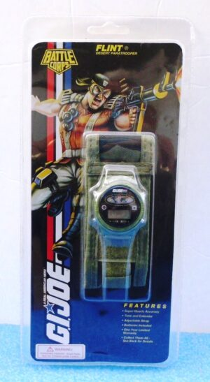 "G.I. Joe Battle Corps Watch (""Flint Desert Paratrooper-A Real American Hero Vintage Collector Timepiece"") Hasbro/Innovative, Inc. Collection Series ""Rare-Vintage"" (1994)"