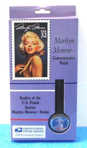 """Marilyn Monroe Commemorative Watch (""""U. S. Postal Service Vintage 32 Cents Stamp-Watch"""") Limited Edition Effectron Corp. Collection Series """"Rare-Vintage"""" (1995)"""
