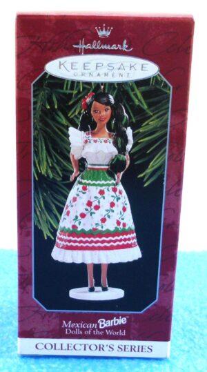 Mexican Barbie (Dolls Of The World-Keepsake Ornament-1998) (0)