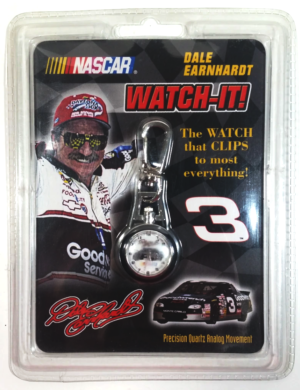 """Dale Earnhardt """"3 Watch-It (""""Nascar Vintage Sports Watch Collectible W/Sports Clip"""") Sports Quest Inc.Collection Series """"Rare-Vintage"""" (1999)"""