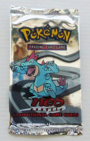 Pokemon (Feraligatr) 2000 Booster Pack Neo Genesis Unlimited Base (3)