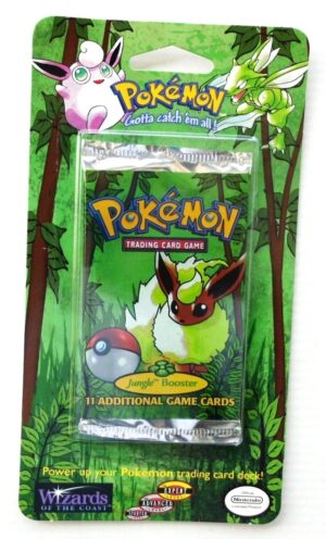 Pokemon (Flareon Image) Empty-Jungle Booster Card & Pack 1999) (1)