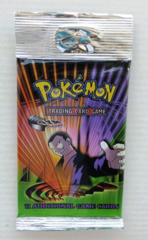 Pokemon (Giovanni) 2000 Booster (Peg Long Pack) Gym Challenge Base (1)