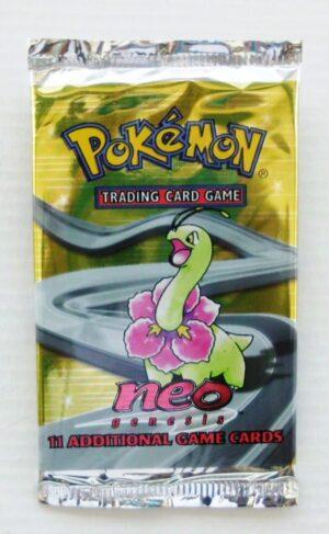 Pokemon (Meganium) 2000 Booster Pack Neo Genesis Unlimited Base (1)