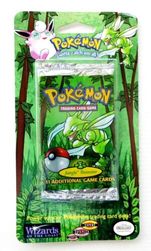 Pokemon (Scyther Image) Empty-Jungle Booster Card & Pack 1999) (1)