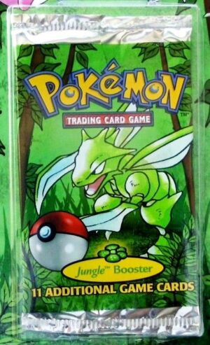 Pokemon (Scyther Image) Empty-Jungle Booster Pack (1999)