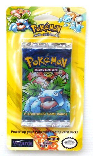Pokemon (Venusaur Image) Empty-Unlimited Booster Card & Pack 1999 (1)