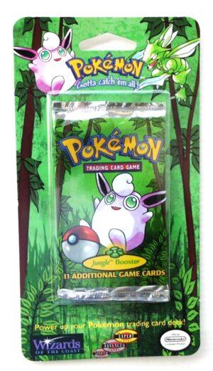 Pokemon (Wigglytuff Image) Empty-Jungle Booster Card & Pack 1999) (1)