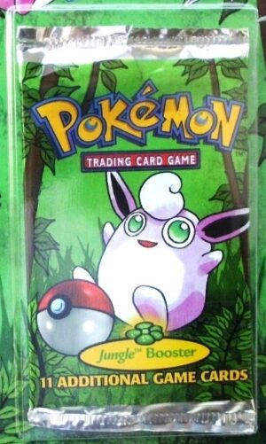Pokemon (Wigglytuff Image) Empty-Jungle Booster Pack (1999)