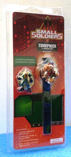 """Small Soldiers Timepiece (""""Chip Hazard & Archer -Vintage Flip Cover To Reveal Time, Collector Timepiece"""") Innovative CorpCollection Series """"Rare-Vintage"""" (1998)"""
