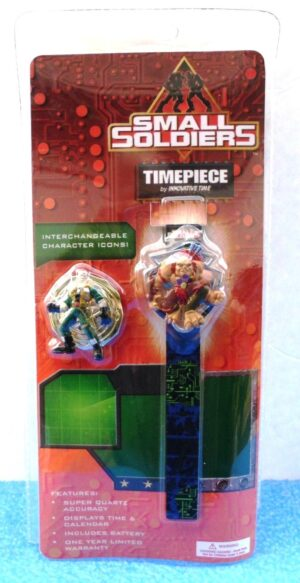 """Small Soldiers Timepiece """"OPENED PRODUCT"""" (""""Chip Hazard & Archer-Vintage Flip Cover To Reveal Time, Collector Timepiece"""") Innovative CorpCollection Series """"Rare-Vintage"""" (1998)"""