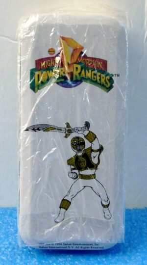 """White Ranger Tommy (""""Exclusive Limited Edition Vintage Tin & Wrist Watch w/Glow-In-The-Dark Power Guard"""")Mighty Morphin Power Rangers Collection Series""""Rare-Vintage"""" (1994)"""