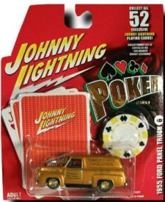 "Johnny Lightning (Poker Exclusive Playing Cards And Authentic Poker Chip Series) Vintage 1/64 Scale Die-Cast Vehicle (Johnny Lightning Collection Series) ""Rare-Vintage"" (2004-2005)"