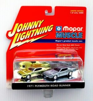 "Johnny Lightning (Mopar Muscle 1st Shot Limited Edition Vintage Series) 1/64 Scale Die-Cast Vehicles (Johnny Lightning Collection Series) ""Rare-Vintage"" (2000-2001)"