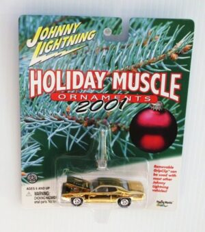 "Johnny Lightning (Holiday Muscle Ornaments with Rubber Wheels Vintage Series Edition) 1/64 Scale Die-Cast Vehicle"" (Johnny Lightning Collection Series) ""Rare-Vintage"" (2000-2004)"