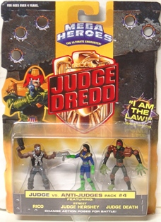 "Judge Dredd (Vintage Mega Heroes Action Figure Collection Series) ""Rare-Vintage"" (1995-1996)"