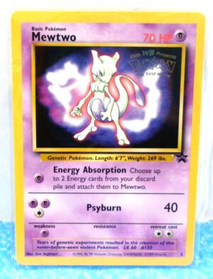 Mewtwo Promo Card #3 (Gold Seal-WB Kids Presents-1999) (0)