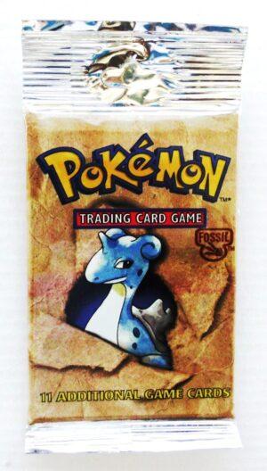 Pokemon (Lapras) 1999 Booster (Peg Long Pack) Fossil Unlimited Base (1)