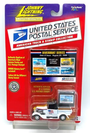 "USPS Authentic Replicas ""Vintage Limited Edition Vehicle & ""Official Licensed Stamp Replicas Series"" American Truck & Stamp Collection"" (Johnny Lightning 1:64 Scale) ""Rare-Vintage"" (1999)"