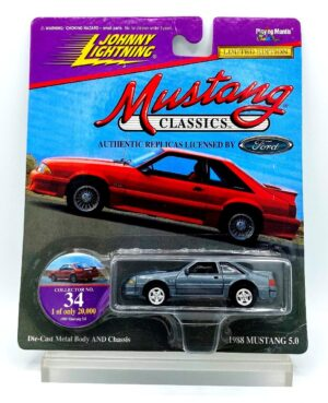 """Johnny Lightning Authentic Replicas """"Vintage Mustang Classics"""" 1:64 Scale Die-Cast Vehicles (Limited Edition Series) """"Rare-Vintage"""" (1997-1999)"""