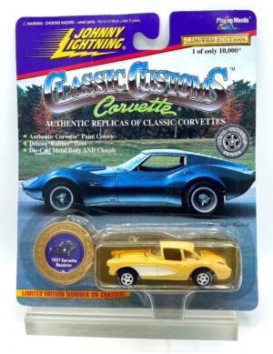 """Johnny Lightning Authentic Replicas """"Vintage Classic Customs Corvette Limited Edition Series Collection"""" 1:64 Scale Die-Cast """"Rare-Vintage"""" (1997)"""