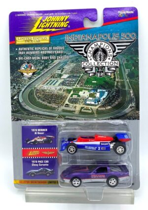 """Johnny Lightning Authentic Replicas """"Vintage Indianapolis 500 Champion Limited Edition 2-Car Collection"""" 1:64 Scale Die-Cast """"Rare-Vintage"""" (1996)"""