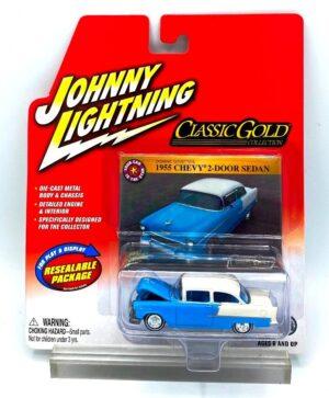 Vintage 1955 Chevy 2-Door Blue (1)