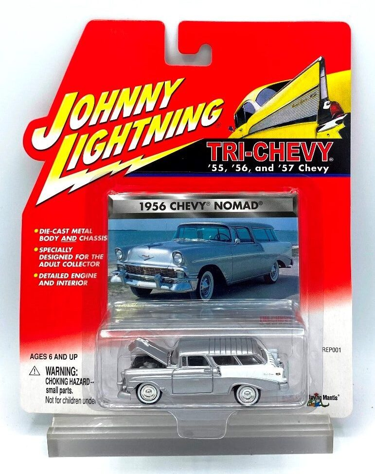 Vintage 1956 Chevy Nomad Silver (1)